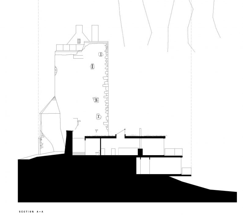 Section A of the proposed design for Carrignacurra Castle renovation project located in North Cork.