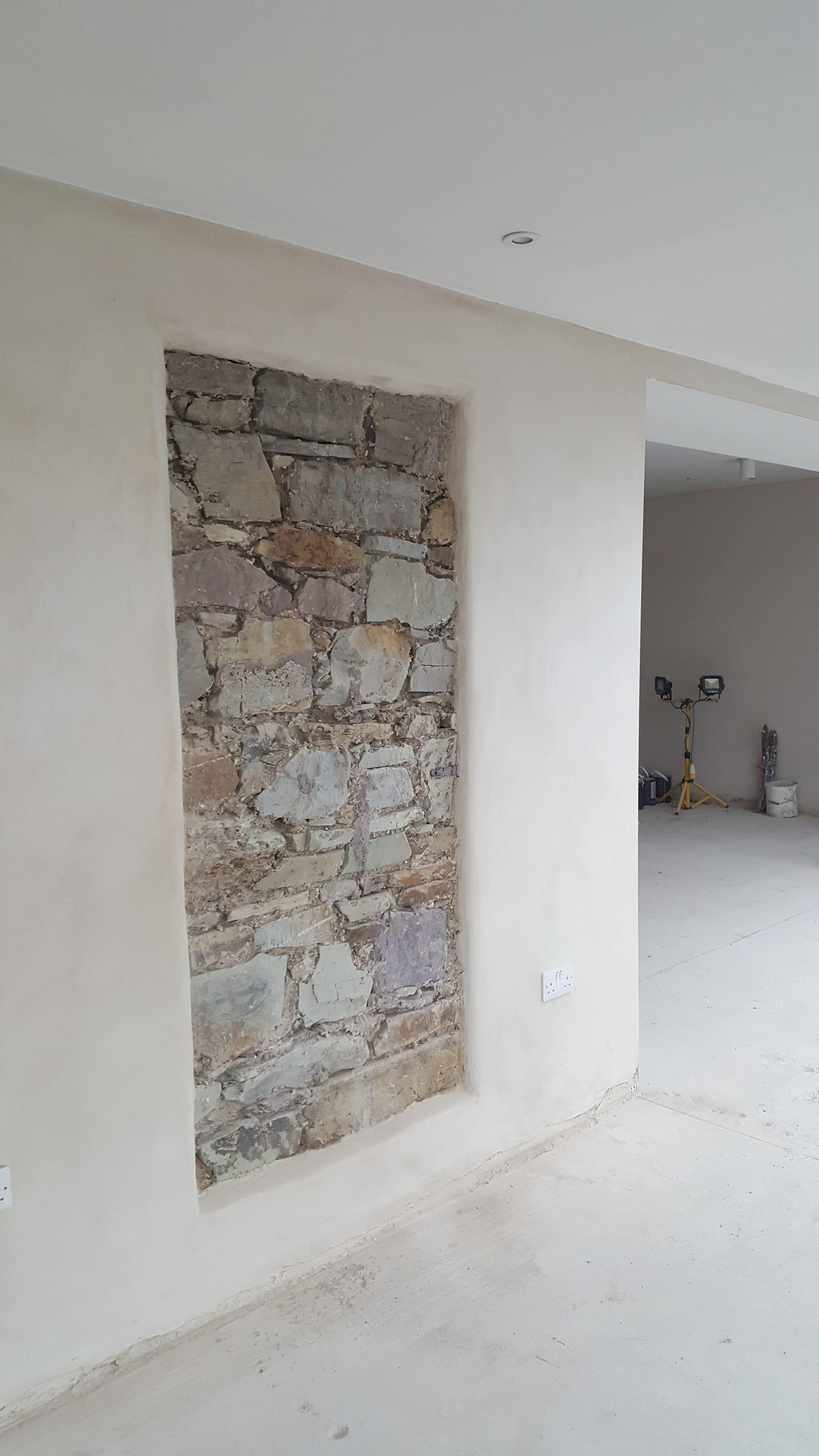 Detail shot of family farmhouse home renovation project in Gortroe, Co. Cork.