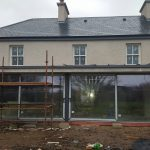 Home kitchen extension project currently under construction in Youghal, Co. Cork.
